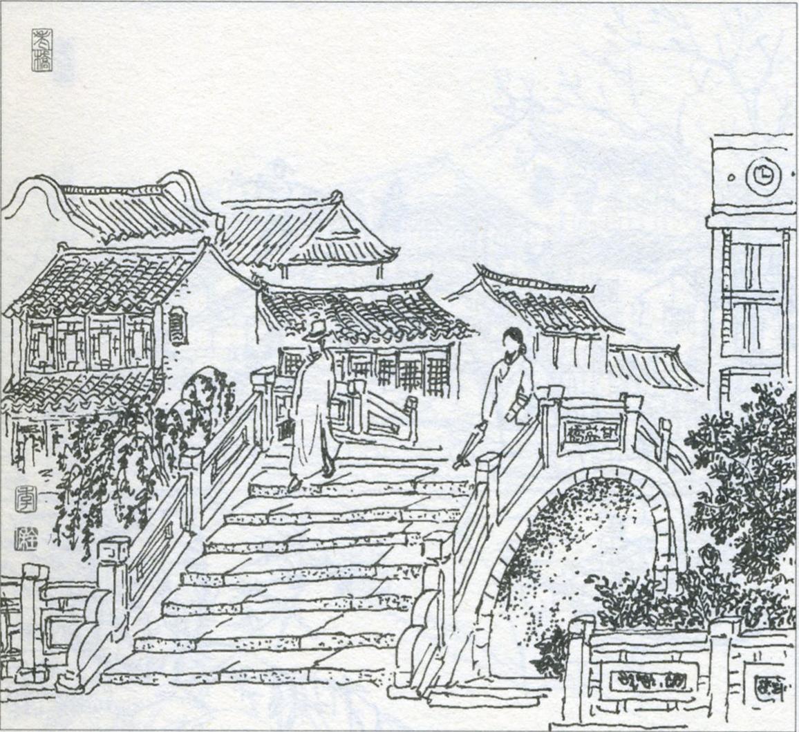 常州城市手绘图片简单
