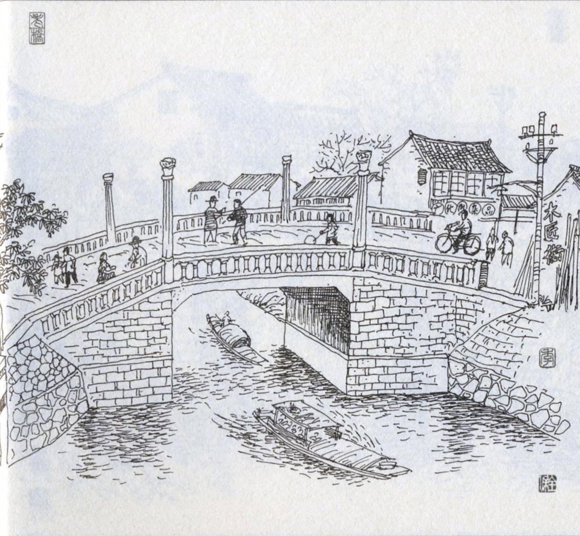 位于广华街(旧称小南门直街)和木匠街之间,横跨南运河(南城壕),这里因在广化门外而故名,广化桥原名为尉司桥,宋代晋陵县尉司衙门在此,并得名。明成化十六年(1480)重建。广化桥随广化街改造也多次改建。1966年该桥改名为『向阳桥』,1982年恢复广化桥原名。 (本文所述文字及相关图片已获季全保先生授权,允许常州博物馆网站使用。